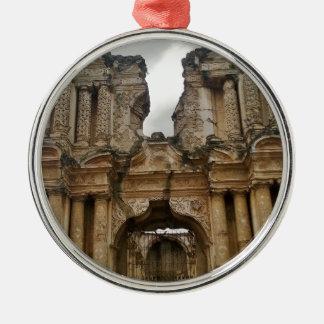 Ruins of Antigua Guatemala Silver-Colored Round Decoration