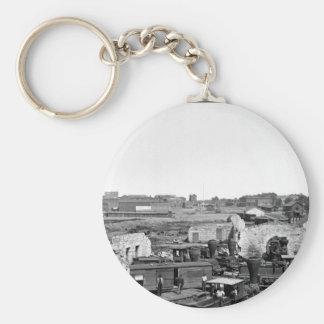 Ruins of Atlanta_War Image Basic Round Button Key Ring