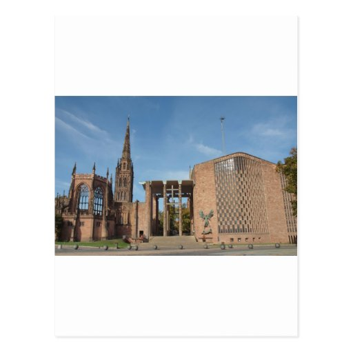 Ruins of bombed St Michael Cathedral, Coventry Post Cards