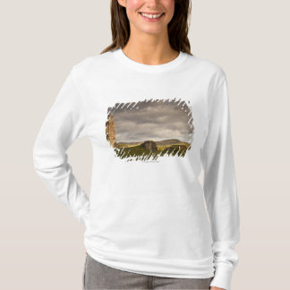 Ruins Of Cessford Castle With Sheep Grazing T-Shirt