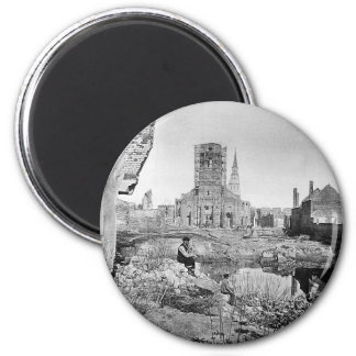 Ruins of Charleston South Carolina 1865 6 Cm Round Magnet