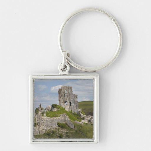 Ruins of Corfe Castle, near Wareham, Dorset, Keychains