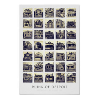 Ruins of Detroit Poster - Abandoned Homes