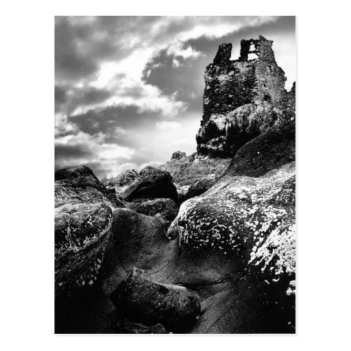Ruins of Dunure Castle, Scotland, Postcard