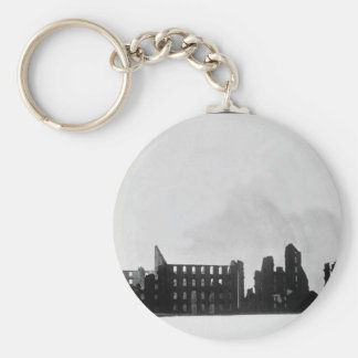 Ruins of Haxall's Mills, Richmond.  April 1865. Ma Basic Round Button Key Ring