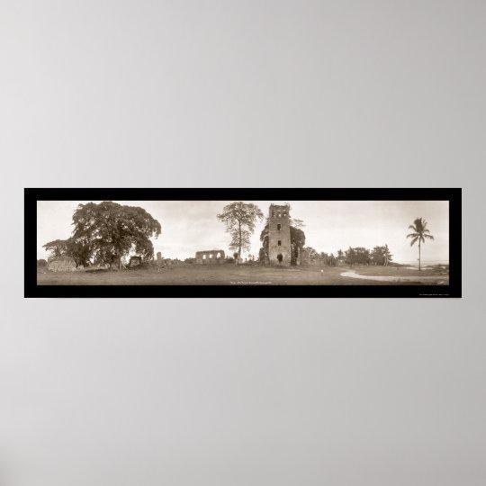 Ruins of Old Panama Photo 1930 Poster