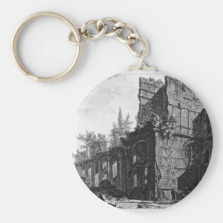 Ruins of one of the chambers` soldiers at one basic round button key ring