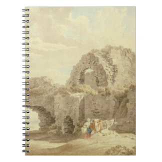 Ruins of Pevensey Castle (w/c on paper) Spiral Notebook
