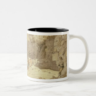 Ruins of Pevensey Castle (w/c on paper) Two-Tone Coffee Mug