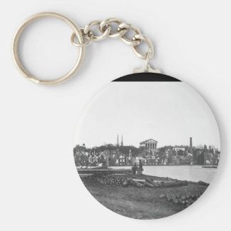 Ruins of Richmond.  April 1865. Capt. Andrew J. Ru Basic Round Button Key Ring