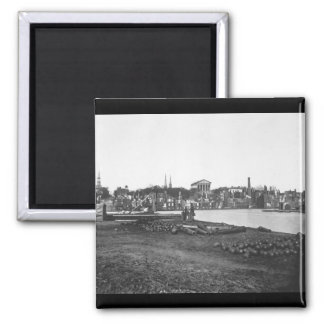 Ruins of Richmond.  April 1865. Capt. Andrew J. Ru Square Magnet