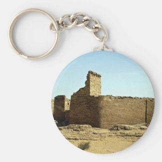 Ruins of the ancient Great Dam, Ma'rib, Republic o Basic Round Button Key Ring