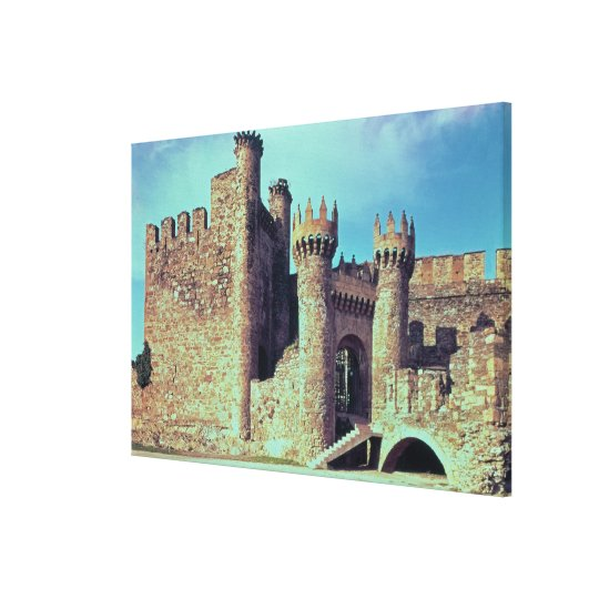 Ruins of the Castle of the Knights Templar Canvas Print