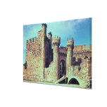 Ruins of the Castle of the Knights Templar Canvas Prints