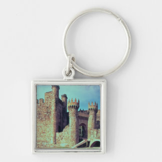 Ruins of the Castle of the Knights Templar Silver-Colored Square Key Ring