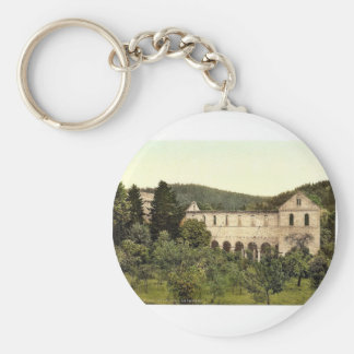 Ruins of the convent, Paulinzella, Thuringia, Germ Keychain