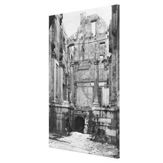 Ruins of the Cour des Comptes 2 Canvas Print