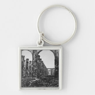 Ruins of the Cour des Comptes 2 Silver-Colored Square Key Ring