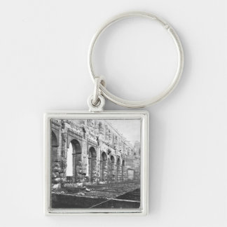 Ruins of the Cour des Comptes Silver-Colored Square Key Ring