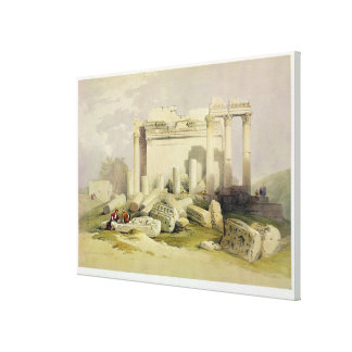Ruins of the Eastern Portico of the Temple of Baal Canvas Print