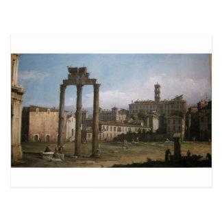 Ruins of the Forum, Rome by Bernardo Bellotto Postcard