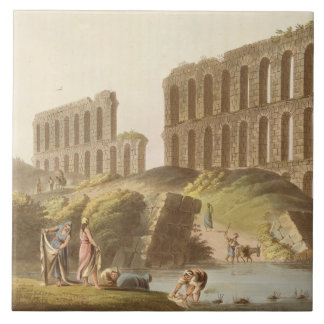 Ruins of the Grand Aqueduct of Ancient Carthage, p Tile