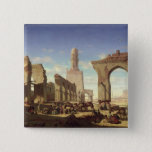 Ruins of the Mosque of the Caliph El Haken 15 Cm Square Badge
