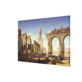 Ruins of the Mosque of the Caliph El Haken Canvas Print