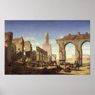 Ruins of the Mosque of the Caliph El Haken Poster