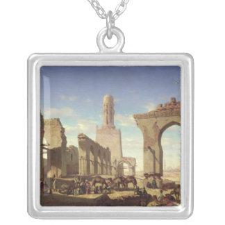 Ruins of the Mosque of the Caliph El Haken Silver Plated Necklace