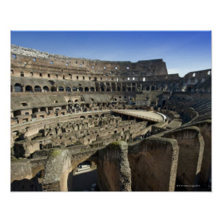 Ruins of the Roman Colosseum, Rome, Italy Poster
