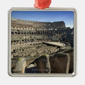 Ruins of the Roman Colosseum, Rome, Italy Silver-Colored Square Decoration