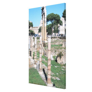 Ruins of the Temple of Castor and Pollux, Italy Canvas Print