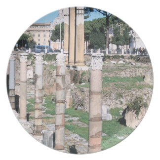 Ruins of the Temple of Castor and Pollux, Italy Plate