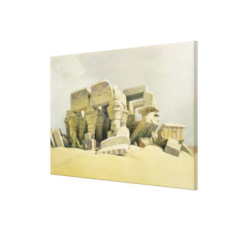 "Ruins of the Temple of Kom Ombo, from ""Egypt and N Canvas Print"