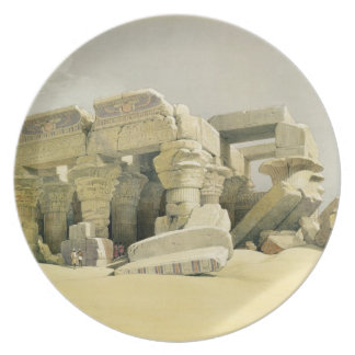"""Ruins of the Temple of Kom Ombo, from """"Egypt and N Plates"""