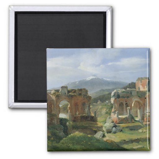 Ruins of the Theatre at Taormina Refrigerator Magnets