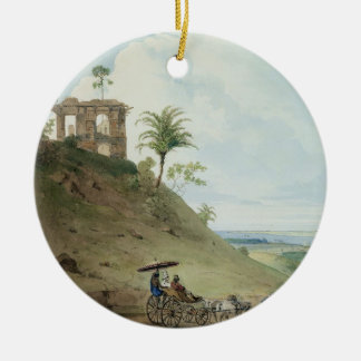 Ruins on Pir Pihar, near Monghy, Bihar, 1790 (w/c Christmas Ornament