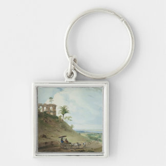 Ruins on Pir Pihar, near Monghy, Bihar, 1790 (w/c Silver-Colored Square Key Ring