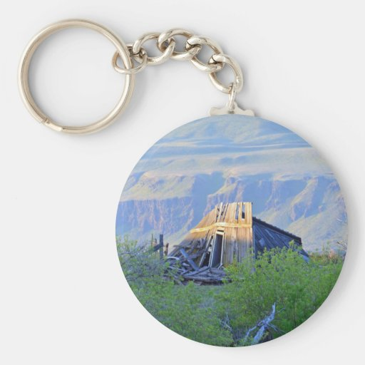 Ruins On The Canyon Rim Key Chains
