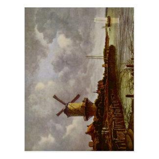 Ruisdael, Jacob Isaaksz. van M?hle von Wijk bei Du Postcard