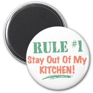 Rule #1 Stay Out Of My Kitchen 6 Cm Round Magnet