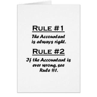 Rule Accountant Greeting Card