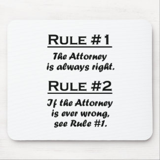 Rule Attorney Mouse Mat