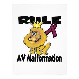Rule AV Malformation 21.5 Cm X 28 Cm Flyer