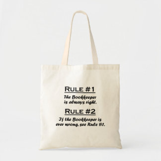 Rule Bookkeeper Tote Bag