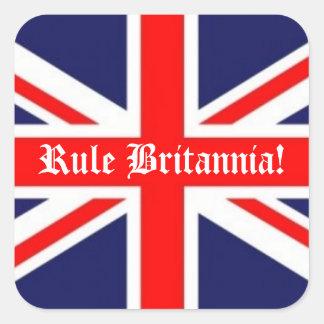Rule Britannia!-British Flag Square Sticker