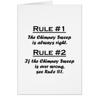 Rule Chimney Sweep Card