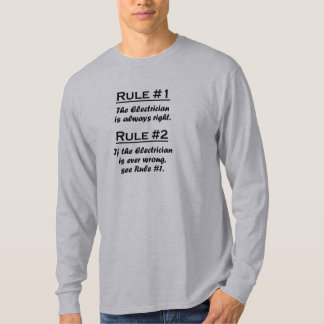 Rule Electrician T-Shirt