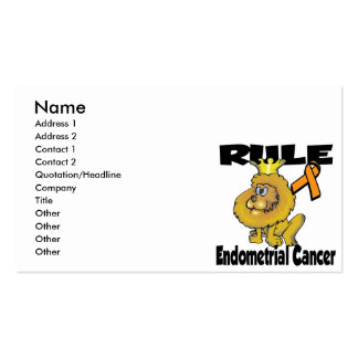 Rule Endometrial Cancer Pack Of Standard Business Cards